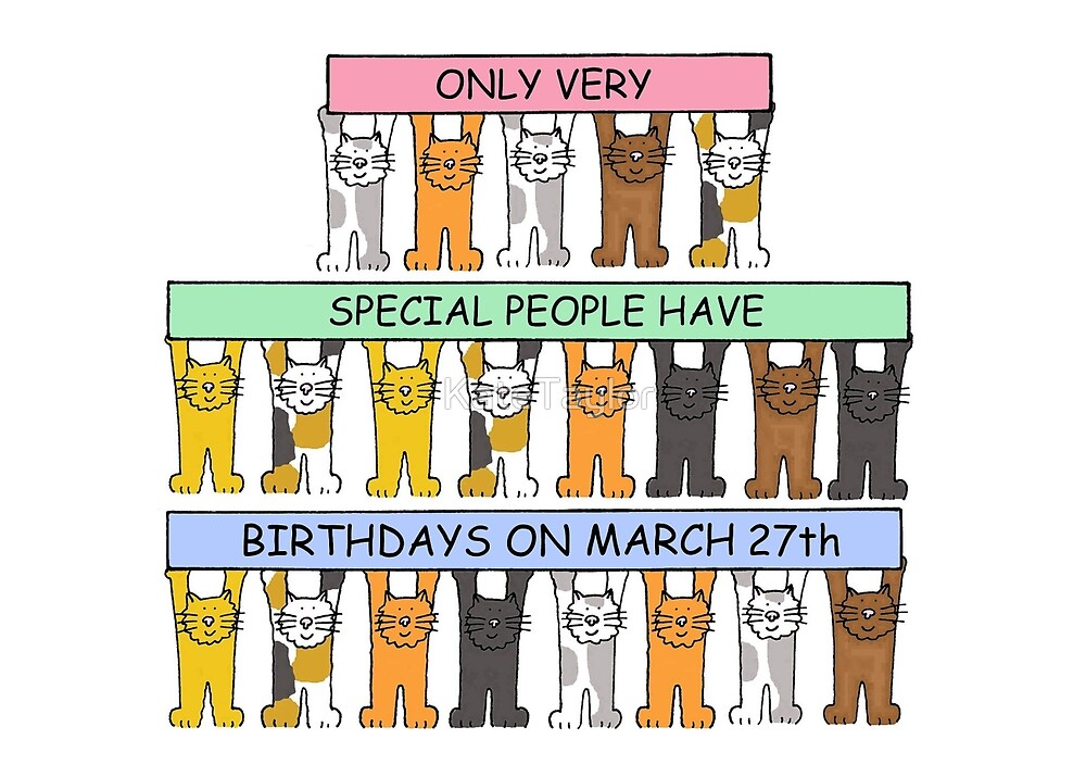 March 27th Birthday Cats. by KateTaylor