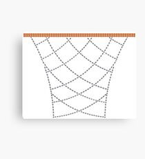 Diamond Hoops Canvas Print