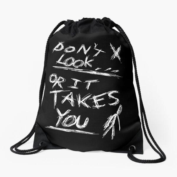 Slenderman Pages - Don't Look (White Version) Drawstring Bag