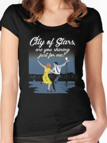 City Of Stars Women's Fitted Scoop T-Shirt