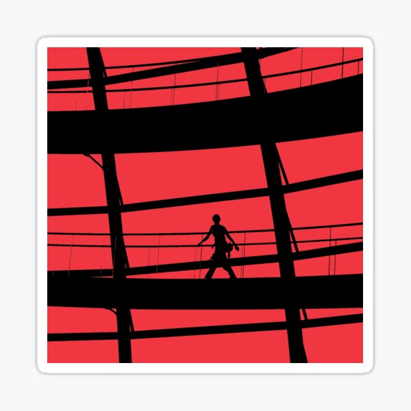 Red Square Sticker