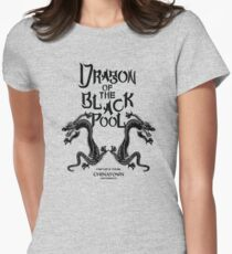 Dragon Of The Black Pool - Text Variant Womens Fitted T-Shirt