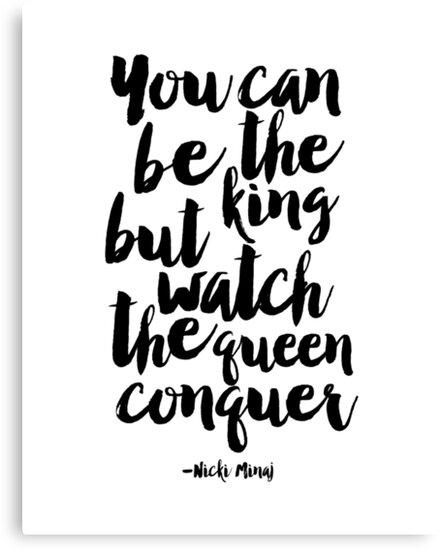 Lienzos «usted puede ser el rey, pero vea la conquista de la reina ...