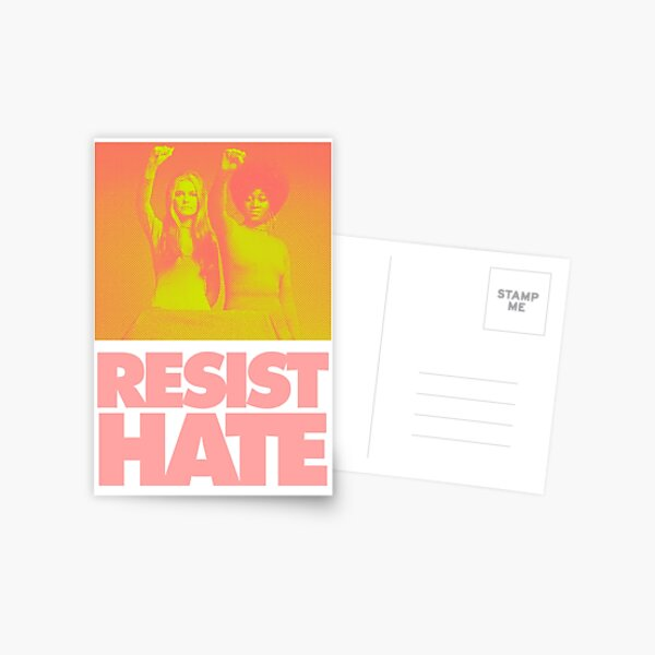 Resist Hate - Gloria Steinem and Dorothy PItman Hughes Postcard