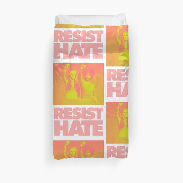 Resist Hate - Gloria Steinem and Dorothy PItman Hughes Duvet Cover