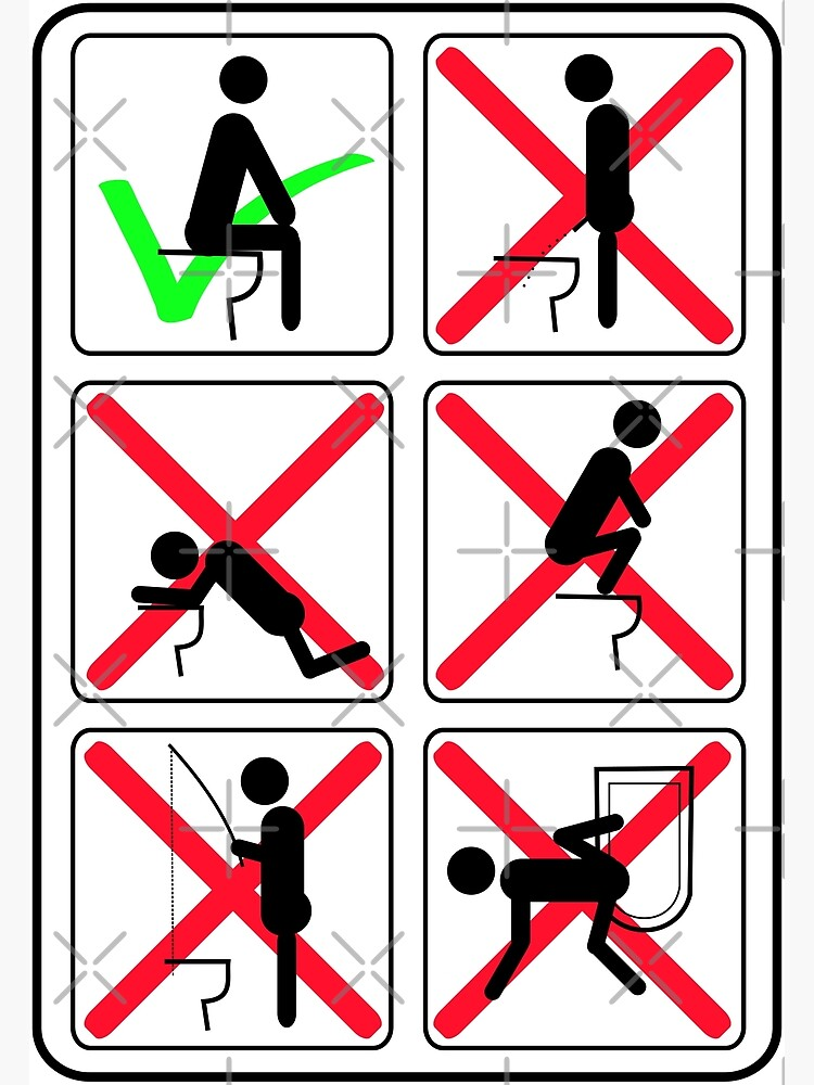 Funny Toilet Instructions by limitlezz