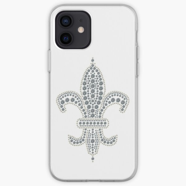 White Fleur de Lis iPhone Soft Case