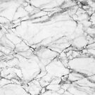 White & Gray Marble Stone by artonwear