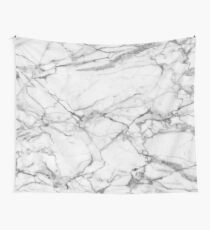 White & Gray Marble Stone Wall Tapestry