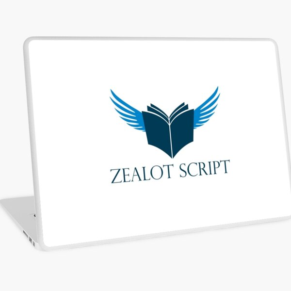 Zealot Script Flying Book with Title Laptop Skin
