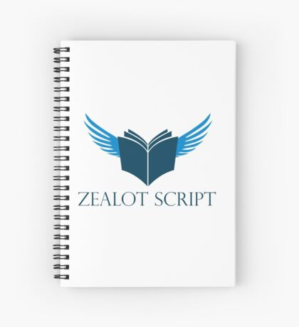 Zealot Script Flying Book with Title Spiral Notebook