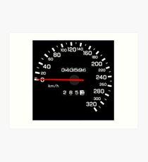 NISSAN スカイライン (NISSAN Skyline) R33 NISMO Speedometer Kunstdruck