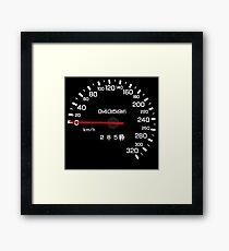 NISSAN N カ ン ン ン (NISSAN Skyline) R33 NISMO Speedometer Framed Print