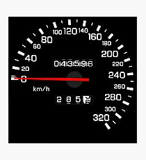 NISSAN N カ ン ン ン (NISSAN Skyline) R33 NISMO Speedometer Photographic Print