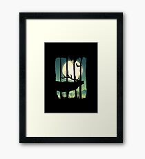 Beautiful Deer on Field Scene Illustration Brushstroke II Framed Print