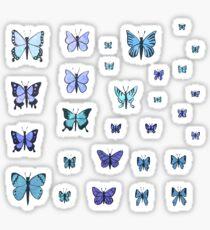 Butterfly Swarm - Blue Sticker