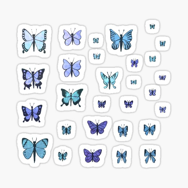 Butterfly Swarm - Blue Sticker