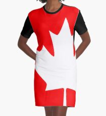 Canada - Maple Leaf Graphic T-Shirt Dress