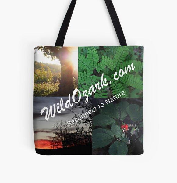 Wild Ozark Collage Tote All Over Print Tote Bag