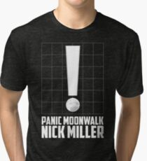Panic Moonwalk - New Girl Nick Miller inspired band design  Tri-blend T-Shirt
