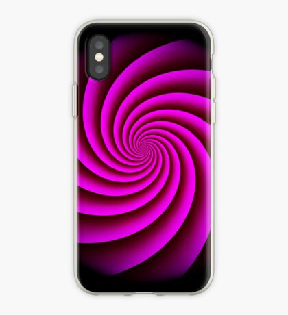Digital Rose Swirl by Julie Everhart iPhone Case