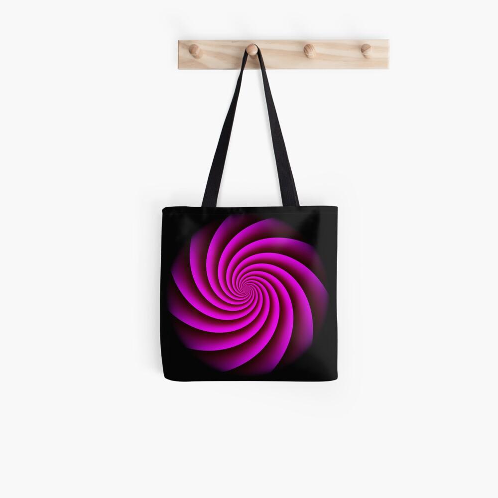 Digital Rose Swirl by Julie Everhart Tote Bag