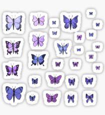 Butterfly Swarm - Purple Sticker