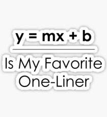 Math Pun One-Liner Sticker
