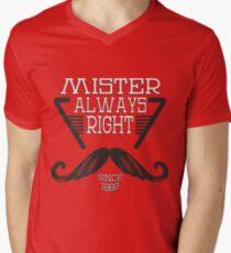 Mister Always Right Mens V-Neck T-Shirt