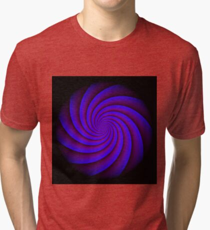 Digital Blue by Julie Everhart Tri-blend T-Shirt