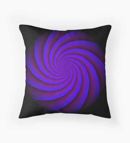 Digital Blue by Julie Everhart Throw Pillow