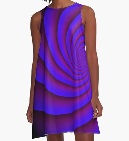 Digital Blue by Julie Everhart A-Line Dress