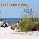 Thanksgiving Card Two Turkeys by Rosalie Scanlon
