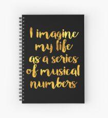 Das Leben als Musical (Gold) Spiralblock