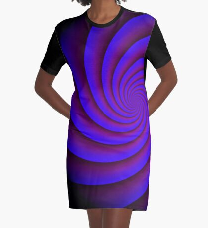Digital Blue by Julie Everhart Graphic T-Shirt Dress