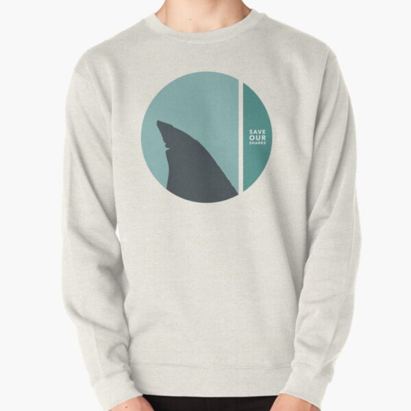 save our sharks circles Pullover Sweatshirt