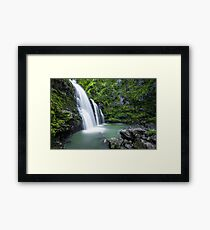 Long Exposure Waterfall Art Prints and Posters Framed Print