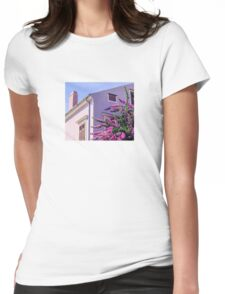 Pink summer Womens Fitted T-Shirt