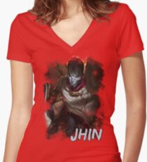 Jhin Women's Fitted V-Neck T-Shirt