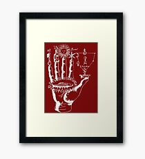 Renaissance Alchemy Hand with Symbols Framed Print