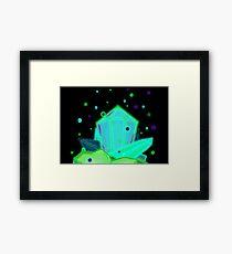 Glow Crystals Framed Print