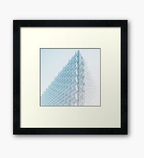 Perspective of Abstract Glass Blocks Building Framed Print