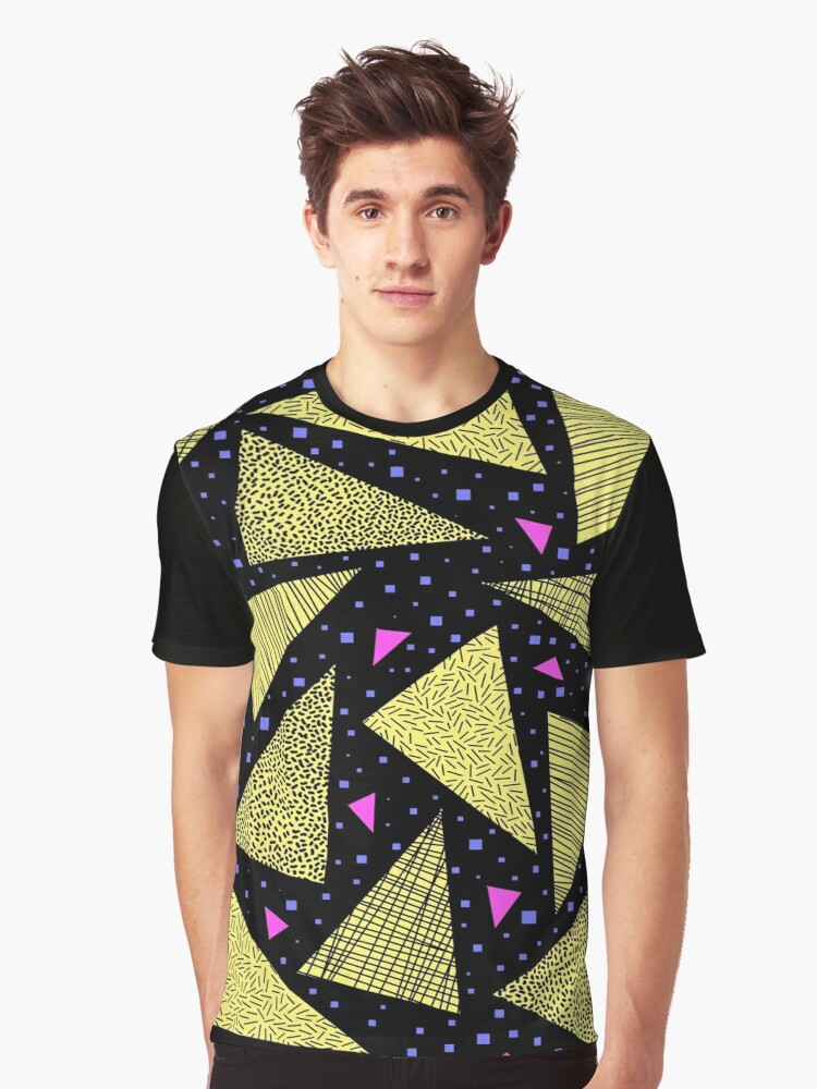 Retro Pattern Graphic T-Shirt Front