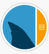 save our seas circle Sticker