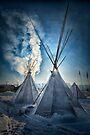 Warmth of Dawn - Standing Rock by Michael Treloar