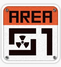 Area 51 Sign Sticker