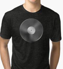 Vinyl LP Record - Metallic - Steel Tri-blend T-Shirt