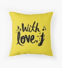 with love j - jessica Throw Pillow