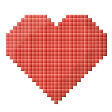 Pixelated heart design by pixxart