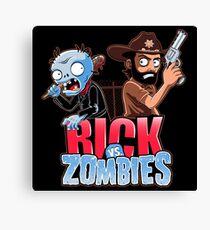 Rick vs Zombies Canvas Print